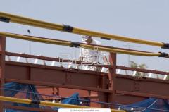 Installation of metalwork of frameworks of buildings