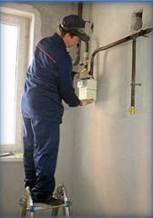Installation of counters of gas of ultrasonic.
