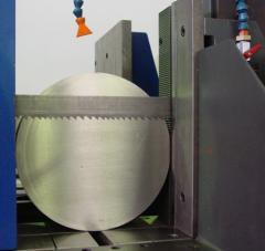 Cutting of steel preparations on the lentopilny