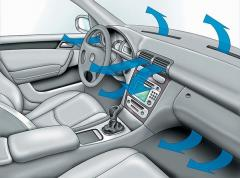Filling, diagnostics of car of conditioners of
