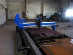 Cutting of sheet metal on installation of plasma