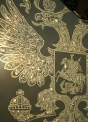 Зеркало с золотым подрывом амальгамы