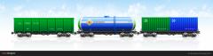 نقل البضائع بالسكة الحديدة