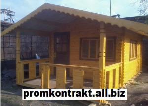 Production, installation of wooden houses cheap,