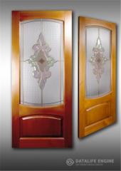 Produzione di vetrate per mobili, porta in vetro colorato
