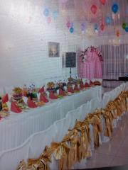 Services of a banquet room on 120 persons in