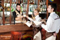 Clothes set for the bartender and the waiter