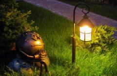 Design of systems of landscape scoring, lighting,