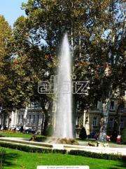 Services in installation of fountains, Light