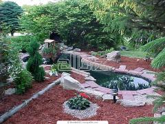 Technology, creation, device of a decorative pond,