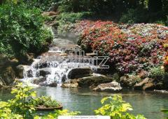 Construction of decorative falls | Artificial