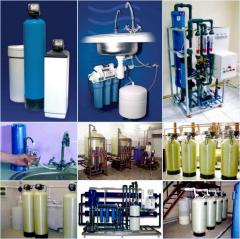 Services of water treatment, water purification