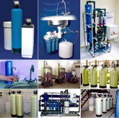 Commissioning of the equipment of water treatment,