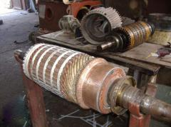 Repair or rewind of windings of the stator, rotor