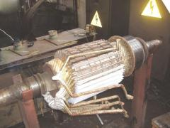 Replacement of brushes of electric motors