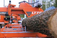 Sawing up of forest products