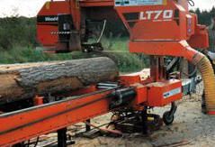 Sawing of forest products, round timber