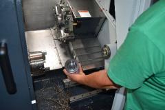Turning on the machine with ChPU