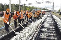 Maintenance of railway tracks