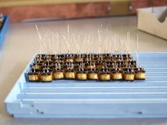 Production of coils of inductance for throttles or