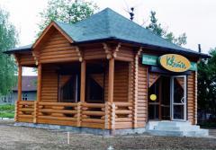 Konstruktion av hus från vild-log