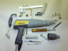 Repair of the equipment of powder painting is more detailed:
