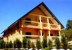 Manufacturing and installation of wooden houses,