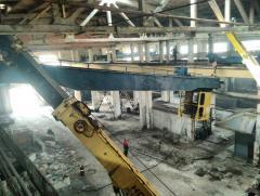 Демонтаж грузоподъёмного оборудования (кранов,