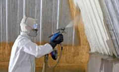 Thermal insulation of apartments polyurethane foam