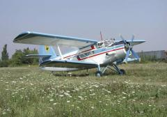 Works on maintenance An-2 airplane