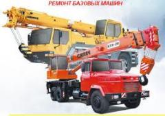 Repair of automobile cranes