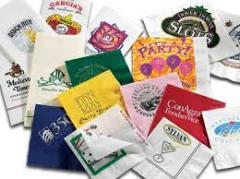 Производство Салфетки бумажной 24*24 белая с нанесением логотипа