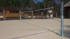 Construction of the platform for beach volleyball