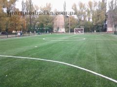 Leaving, preparation, service of football fields