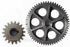 Service in production of gear wheels pryamozuby