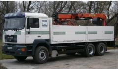 Перевозки грузов MAN манипулятор, грузоподьемность