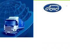 Logistic services. Registration of transit