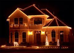 Оформление частных домов к Новому году