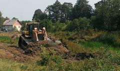 Dig pond, Earthwork, the device of ditches,