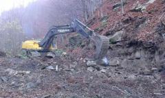 Development of ditches excavator gusenichny Volvo