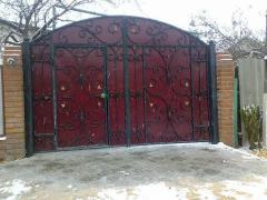 Изготовление металлических ворот разной конфигурации