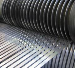 Cutting of rolled steel.