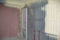 Thermal insulation of industrial rooms