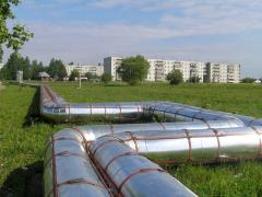 Thermal insulation of heating mains polyurethane