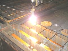 Plasma cutting of metal rolling