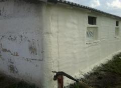 Thermal insulation polyurethane foam dusting.