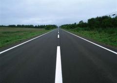 Нанесение горизонтальной и вертикальной дорожной разметки