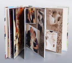 Design of wedding photobooks and photo albums,