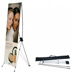 X banner,  X spider. Exhibition mobile stand...