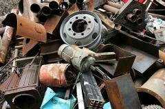 Reception of scrap of ferrous metals